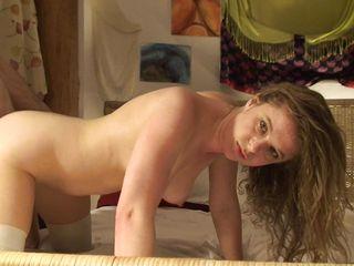 Секс в чулках и одежде